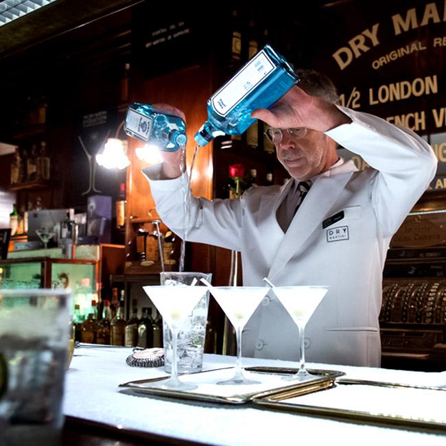 Bombay Sapphire Gin at Dry Martini Barcelona